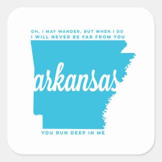 arkansas   song lyrics   sky blue square sticker