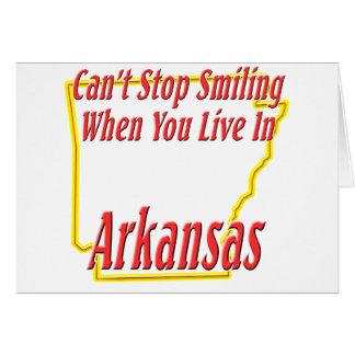 Arkansas - sonriendo felicitacion