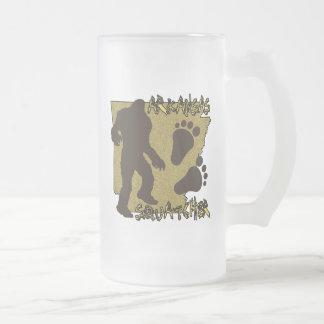 Arkansas Squatcher Frosted Glass Beer Mug