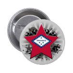 Arkansas Star Pinback Button