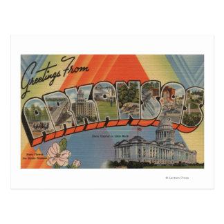 Arkansas (State Capital) - Large Letter Scenes Postcard