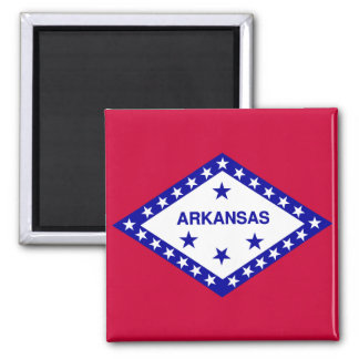 Arkansas State Flag 2 Inch Square Magnet