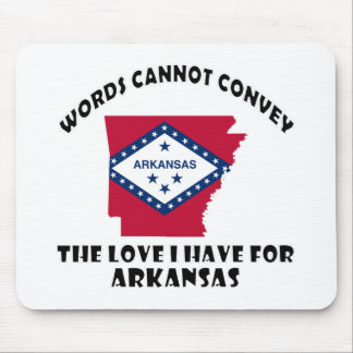 Arkansas state flag and map designs mouse pad