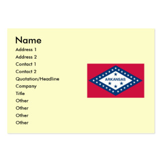 Arkansas State Flag Large Business Cards (Pack Of 100)