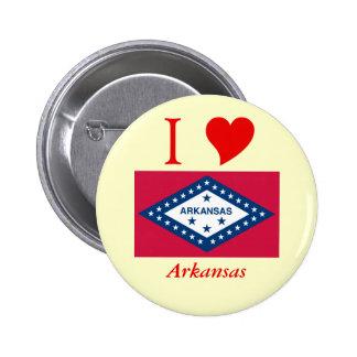 Arkansas State Flag Pinback Button