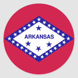 Arkansas State Flag Classic Round Sticker