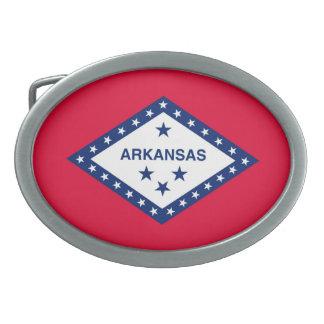 Arkansas State Flag Design Belt Buckle