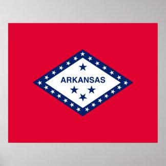 Arkansas State Flag Design Poster