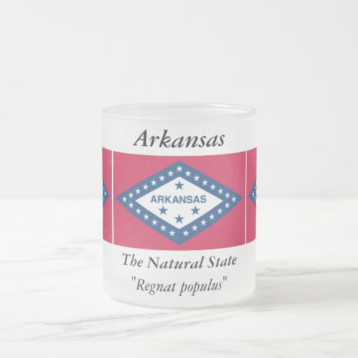 Arkansas State Flag Frosted Glass Coffee Mug