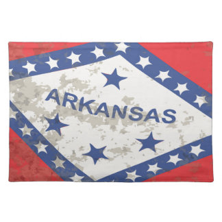 Arkansas State Flag Grunge Cloth Placemat