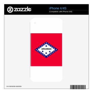 Arkansas State Flag Skin For The iPhone 4S