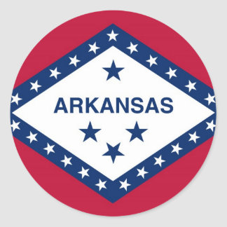 Arkansas State Flag Round Sticker