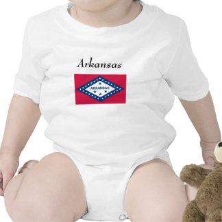 Arkansas State Flag Rompers