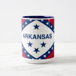 Arkansas State Flag Two-Tone Coffee Mug