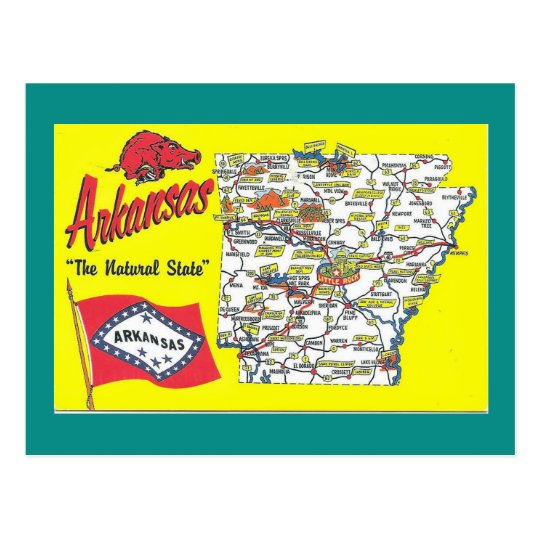 Arkansas State Map Postcard on state names, state initials, state of south dakota website, state of alabama, state climate, state time, state list, state flag, state parks in north alabama, state of al counties, state capitals, state of obesity, state of louisiana, state populations in order, state newspaper, state topography, state puzzle, state function, state city, state population density,