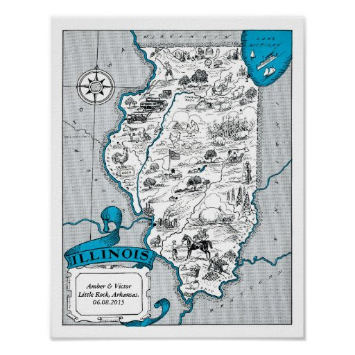 Arkansas State Map Wedding Gift Wall Decor Poster
