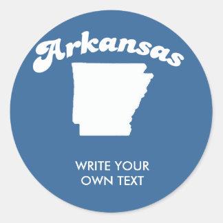 ARKANSAS STATE MOTTO T-SHIRT T-shirt Classic Round Sticker