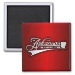 Arkansas State of Mine 2 Inch Square Magnet