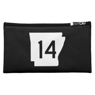 Arkansas State Route 14 Cosmetic Bag