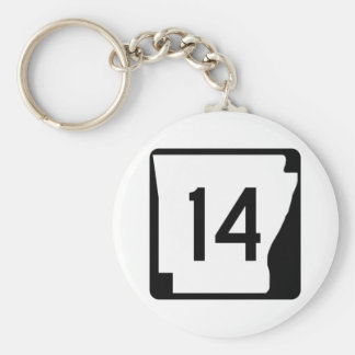 Arkansas State Route 14 Keychain