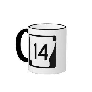 Arkansas State Route 14 Ringer Mug