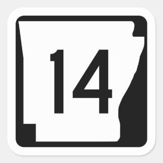 Arkansas State Route 14 Square Sticker