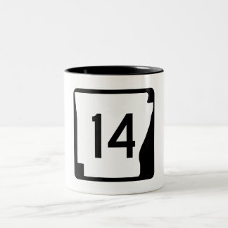 Arkansas State Route 14 Two-Tone Coffee Mug