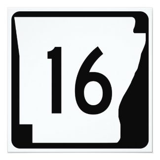 Arkansas State Route 16 Card