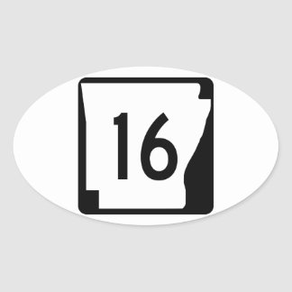 Arkansas State Route 16 Oval Sticker
