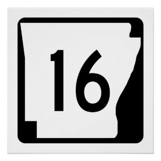 Arkansas State Route 16 Poster