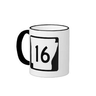 Arkansas State Route 16 Ringer Mug