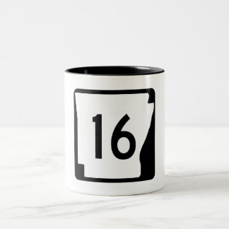 Arkansas State Route 16 Two-Tone Coffee Mug
