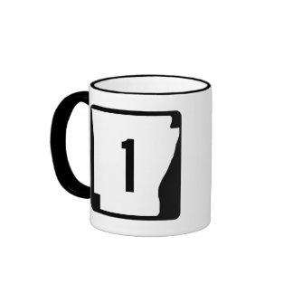 Arkansas State Route 1 Ringer Mug