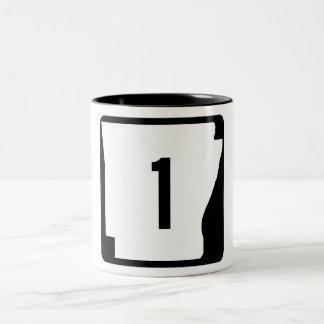 Arkansas State Route 1 Two-Tone Coffee Mug
