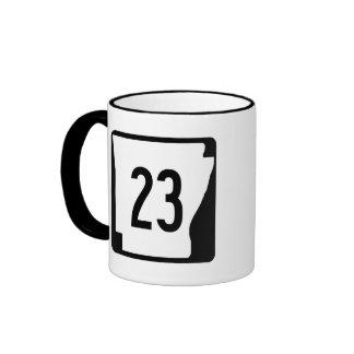 Arkansas State Route 23 Ringer Mug