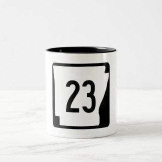 Arkansas State Route 23 Two-Tone Coffee Mug