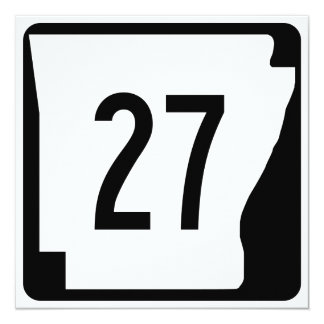 Arkansas State Route 27 Card