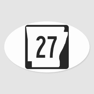 Arkansas State Route 27 Oval Sticker