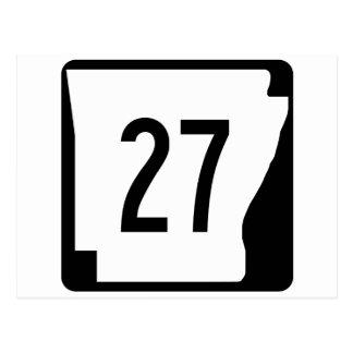 Arkansas State Route 27 Postcard
