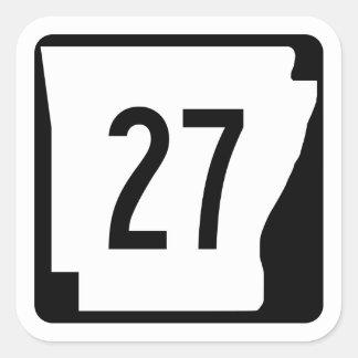 Arkansas State Route 27 Square Sticker