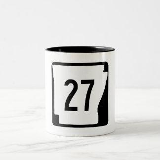 Arkansas State Route 27 Two-Tone Coffee Mug