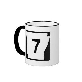 Arkansas State Route 7 Ringer Mug