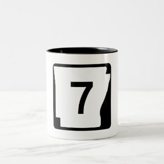 Arkansas State Route 7 Two-Tone Coffee Mug