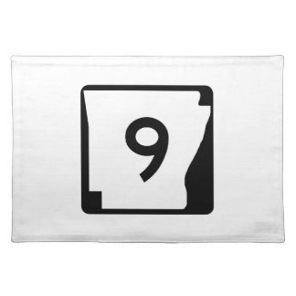 Arkansas State Route 9 Cloth Placemat