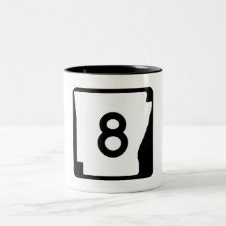Arkansas State Route 9 Two-Tone Coffee Mug