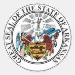 Arkansas State Seal Classic Round Sticker