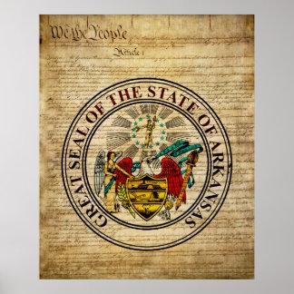 Arkansas State Seal Poster