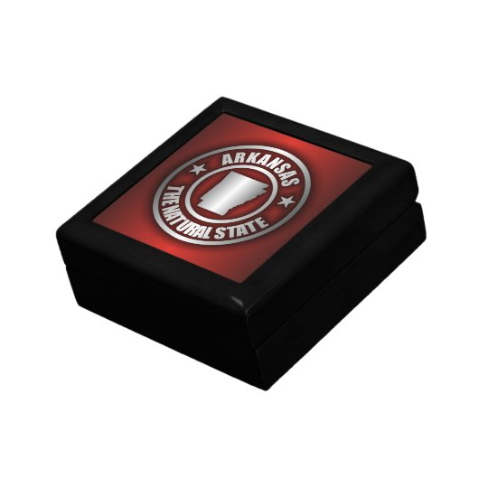 """Arkansas Steel"" Keepsake Box (Red)"