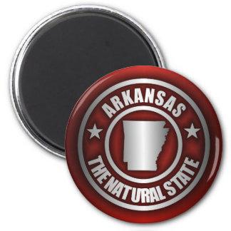 """Arkansas Steel"" Magnets (Red)"