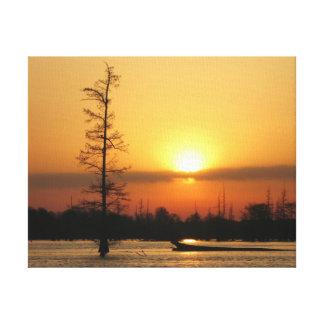 Arkansas Sunrise on Millwood Lake Canvas Print